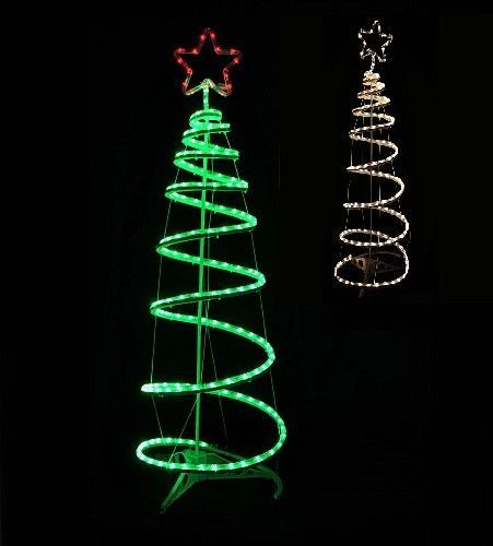 spiral christmas tree rope led lighted silhouette in outdoor flashing decoration werchristmassmartdealsmarket christmas - Led Spiral Christmas Tree