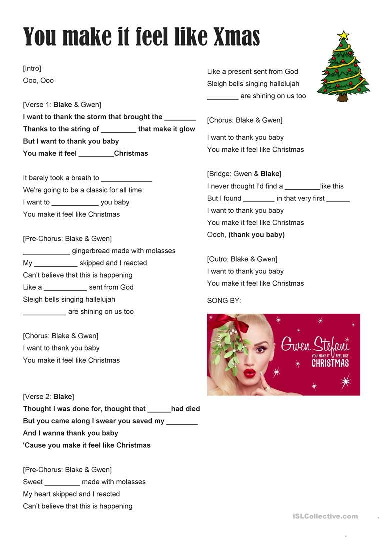 Song For Christmas You Make It Feel Like Xmas Gwen Stef Christmas Song Feelings Songs