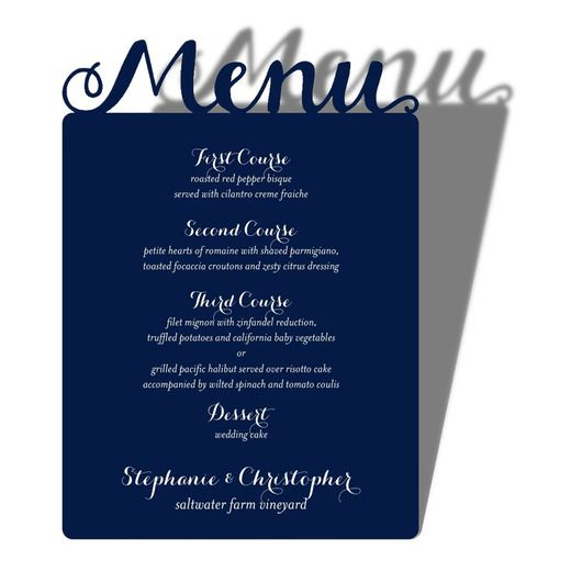 everlasting bliss signature laser cut menu cards alexis mattox