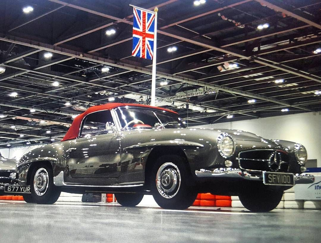 This pic shows david gandy s mercedes benz 190sl from londonclassiccarshow2016 march 2016