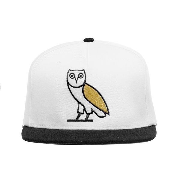 75ca679e351 Embroidered white owl snapback from Drake s OVO label.  75