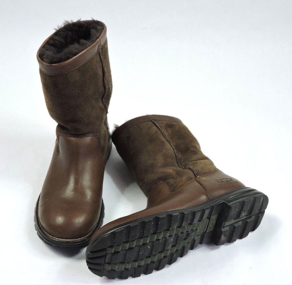 dd394e4ca6b Details about UGG Australia Brooks Size 7 Boots 5381 Brown Leather ...