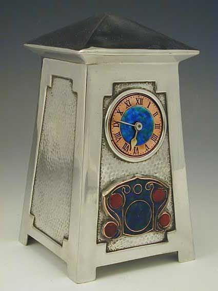 Liberty  Co. Architectural Clock ~ Archibald Knox ~ via mahala knight