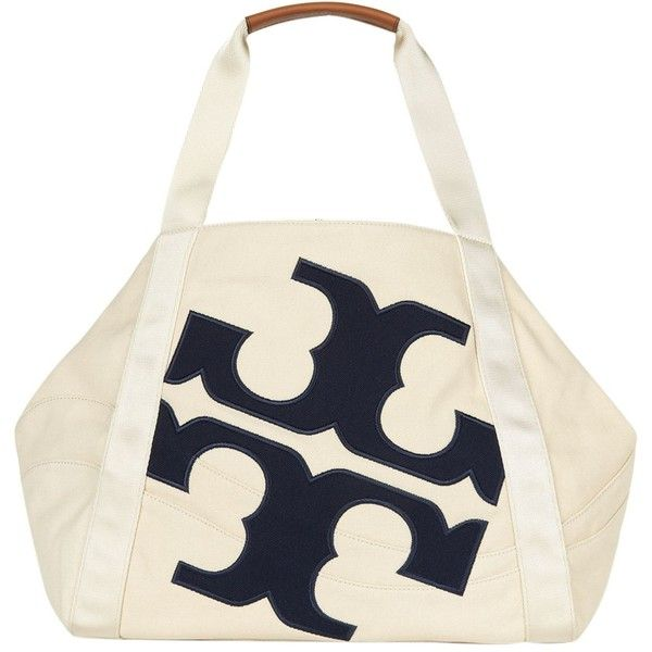 8705f2ed8d1 Tory Burch Canvas Logo Tote (4