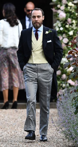 James Middleton, Pippa's brother attends the wedding of Pippa Middleton and James Matthews at St Mark's Church on May 20, 2017 in Englefield Green, England.