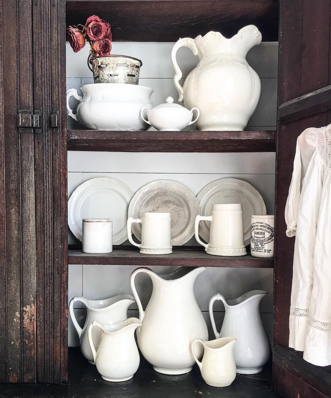 ironstone #collection | Ironstone in 2019 | Pinterest | Above ... on small kitchen design white, decorating small space dining room, decorating top of kitchen cabinets, decorating above refrigerator, decorating ideas small spaces magazine,