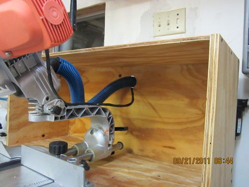 Miter Saw Dust Collection Hood By Blackie Lumberjocks