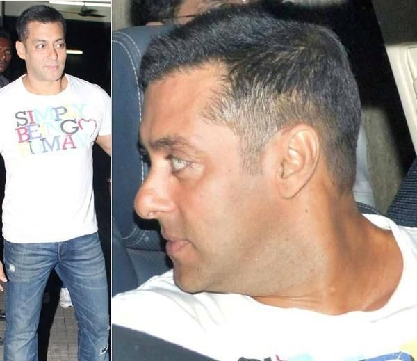 Caught Salmankhan Sporting A Really Short Haido So Guys