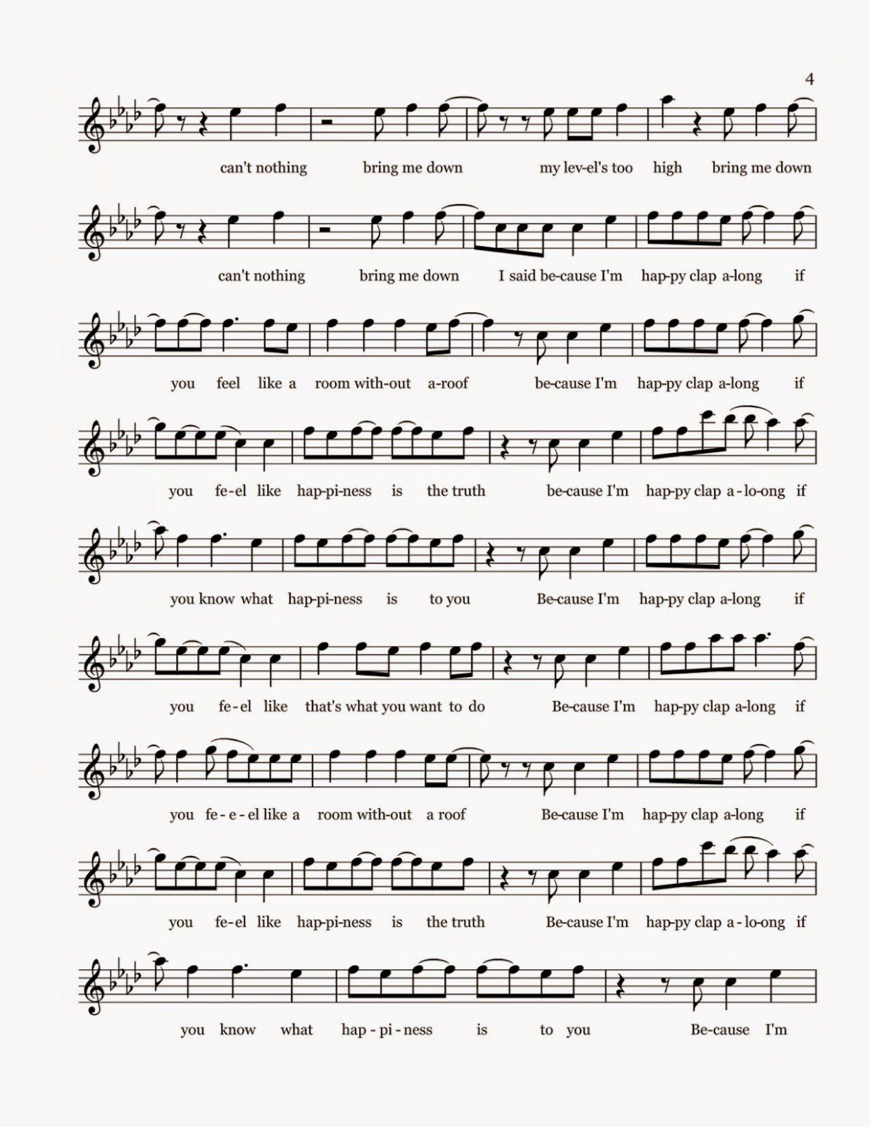 Flute Sheet Music Happy Sheet Music Flute Sheet Music