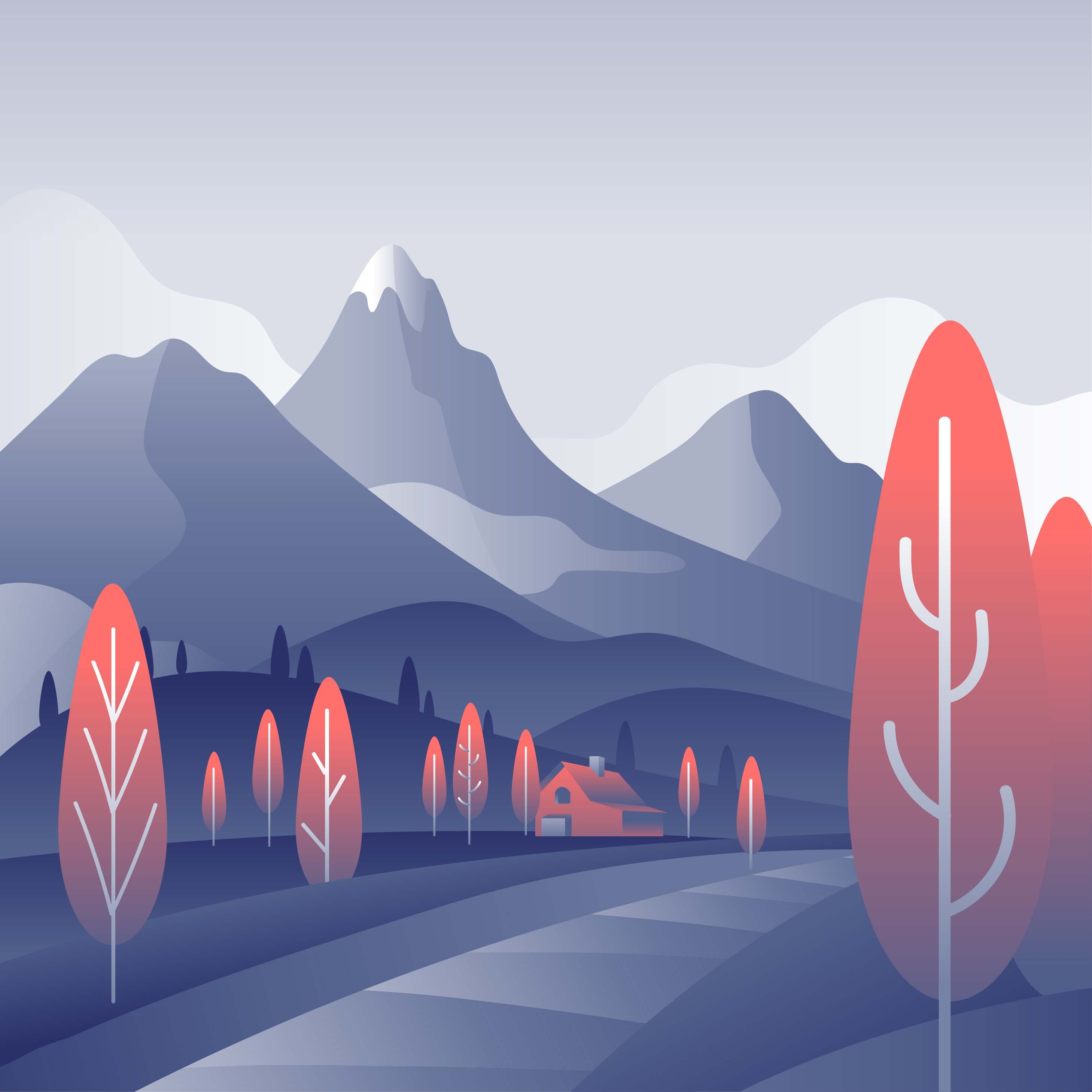 Mountain Landscape First Person Vector Choose From Thousands Of Free Vectors Clip Art Designs Icons An Landscape Illustration Mountain Landscape Vector Art