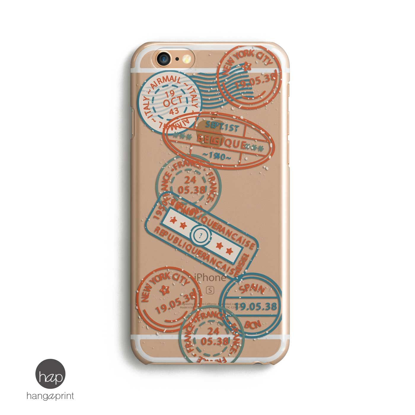Stamps Iphone Case Trendy Phone Case Transparent Iphone 6s Case