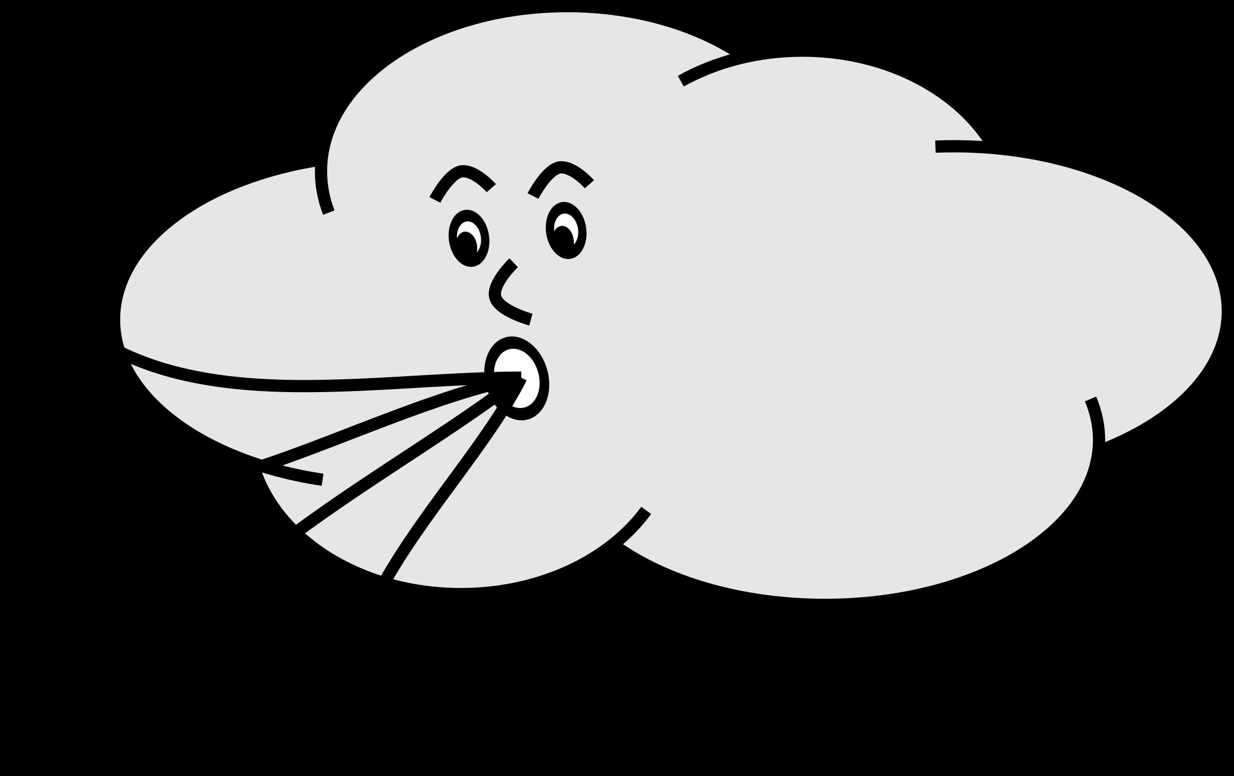 Clipart Wind Blowing Cloud Wind Cartoon Blowing Wind Free Clip Art
