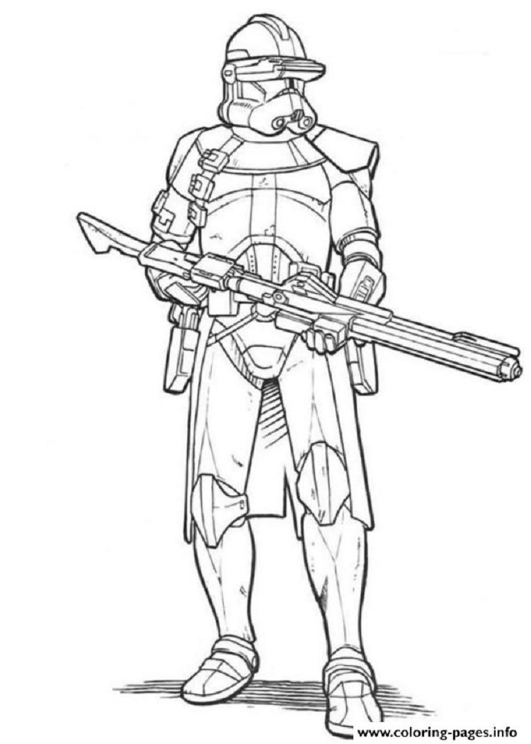 Star Wars Coloring Pages Clone Troopers In 2019 Star Wars