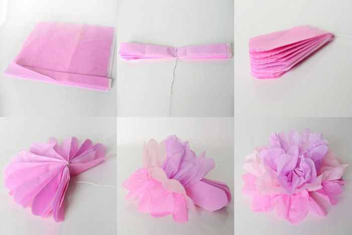 Diy paper flower projects tissue paper diy paper and flower diy pink tissue paper flower mightylinksfo