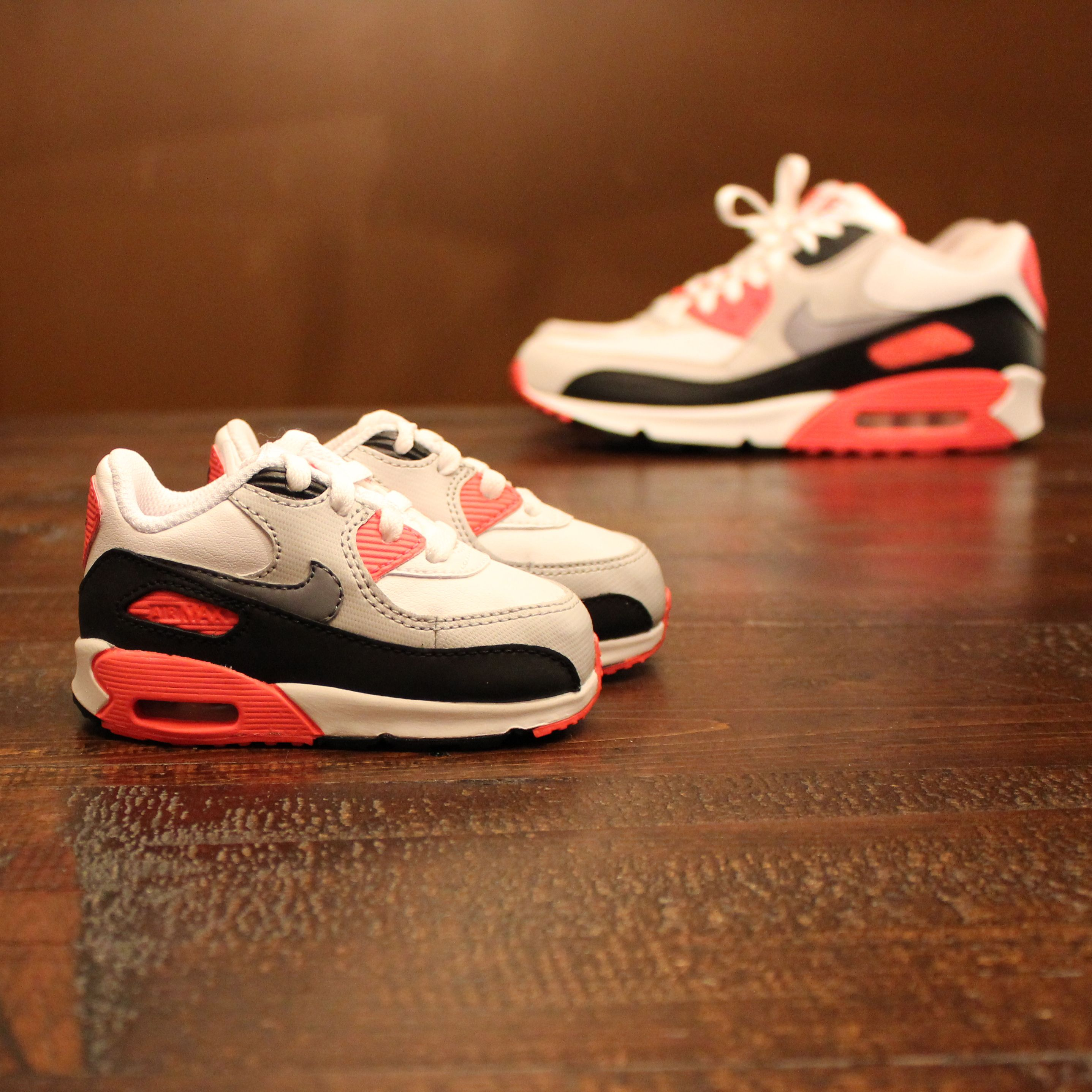 sports shoes 529ac e1396 Baby Nike Air Max 90 Infra reds Finally gonna have someone to match  sneakers with again!  )