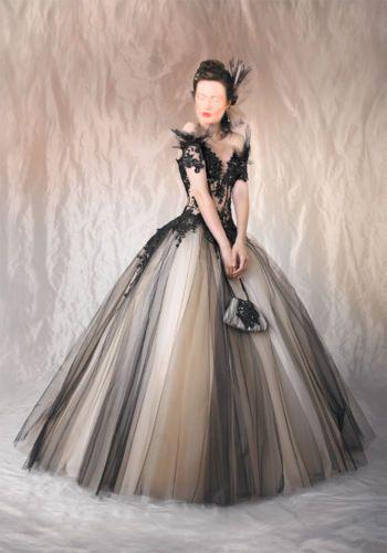 Brautkleid Gebr Schwarz Weiss Agora Marke Gothic Ball Prinzessin Kleid 36 40 Ballkleid Kleider Und Abendkleid