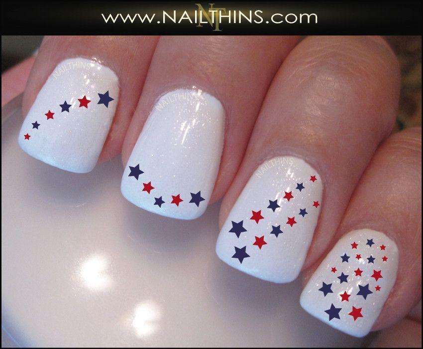 Star Nail Decal Set #3 Nail Art Design | Nail decals, Star nail ...
