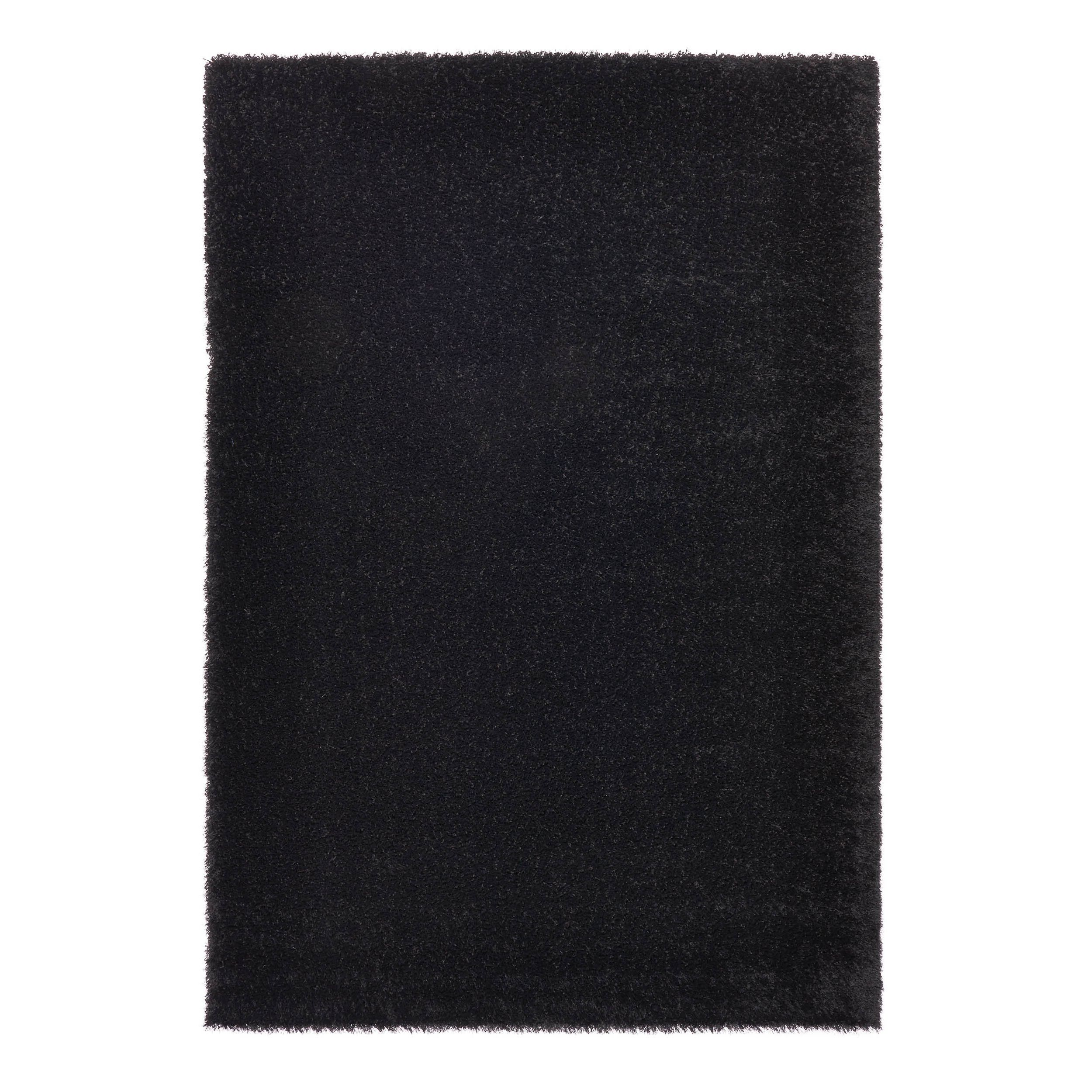 "Somette Slater Collection Black Solid Area Rug (6'7"" x 9'6"") (Black Solid (6'7"" x 9'6"")), Size 6'7"" x 9'6"""