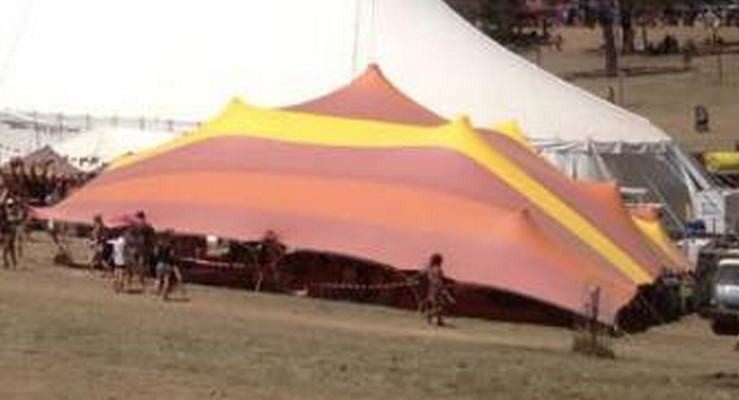 Striped stretch tent at the Rainbow serpent festival & Striped stretch tent at the Rainbow serpent festival | Festivals ...