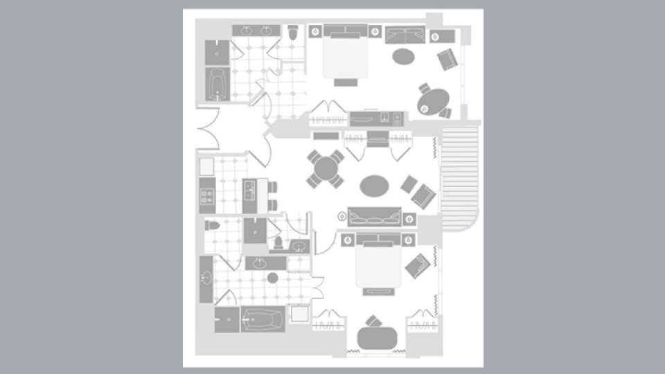 Signature at MGM Grand Two Bedroom Suite Floorplan. | Travel ...
