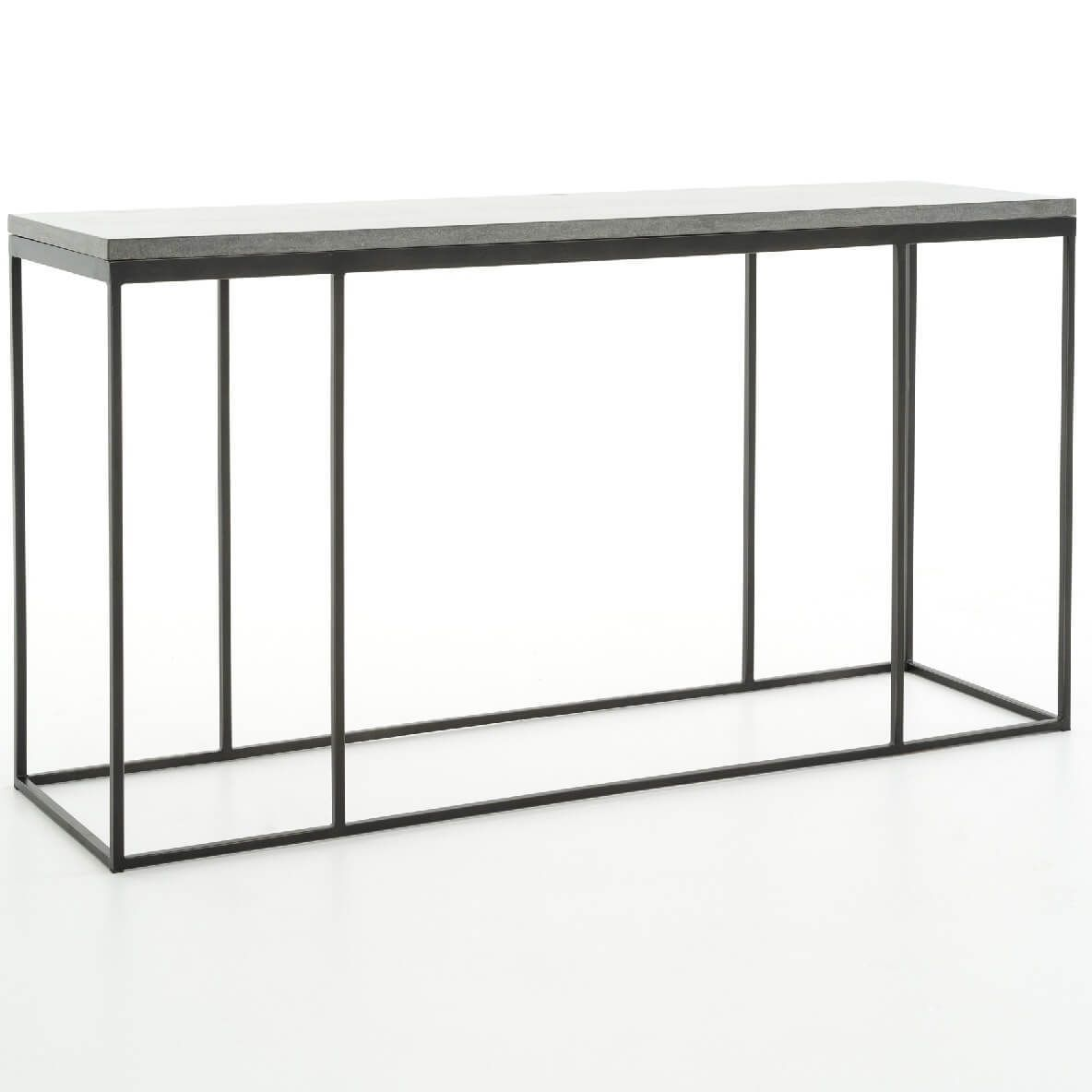 French Industrial Iron Bluestone Top Console Table French Industrial Industrial Style Furniture Industrial Irons