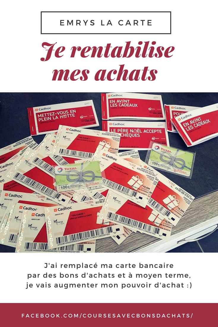 Economies Au Long Terme Avec Emrys La Carte Vos Achats Du Quotidiens Vous Rapportent Des Bons D Achats De 15 Puis 75 Puis 375 Cartes Carte Carte Bancaire