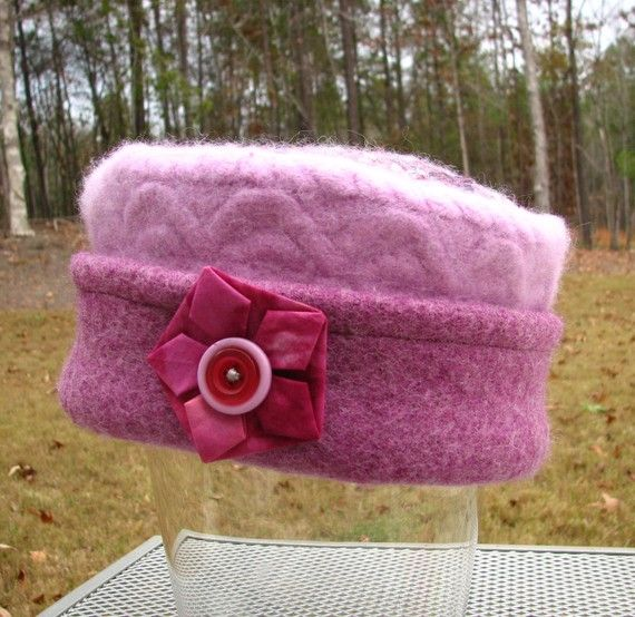 Shades of Purple Pillbox Style Hat from ♥ by upcloseandpersonal, $35.00
