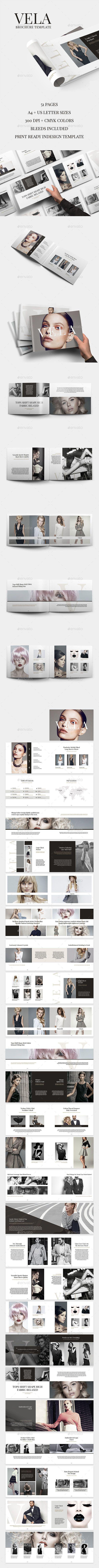 Vela brochure template u indesign indd catalogue business