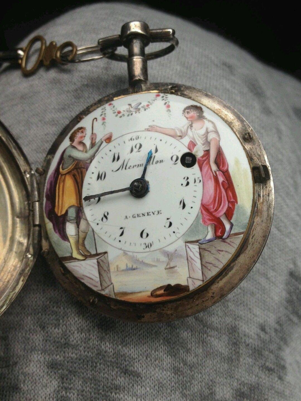 sito web professionale sconto più basso più alla moda Pocket watch enamel verge fusee del 1700 rare orologio da ...
