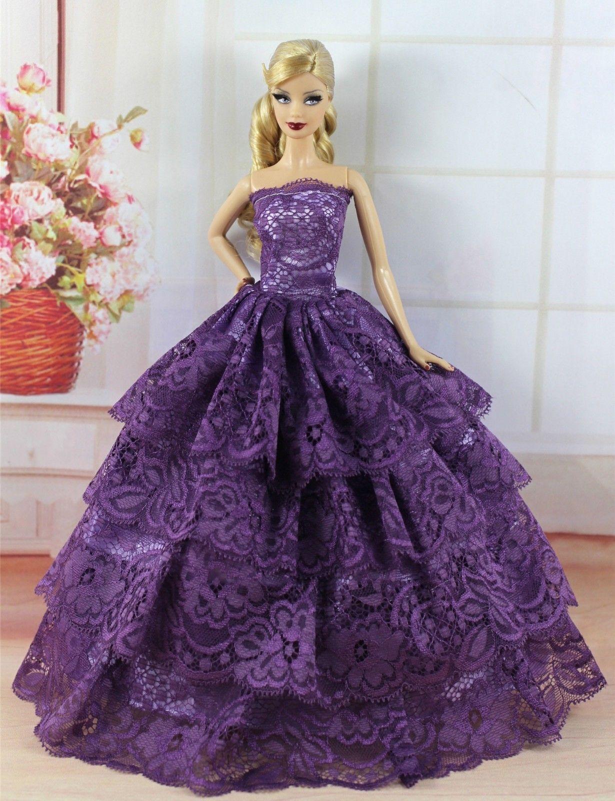 6 PCS Fashion Princes Dress/Wedding Clothes/Gown For Barbie Doll S288