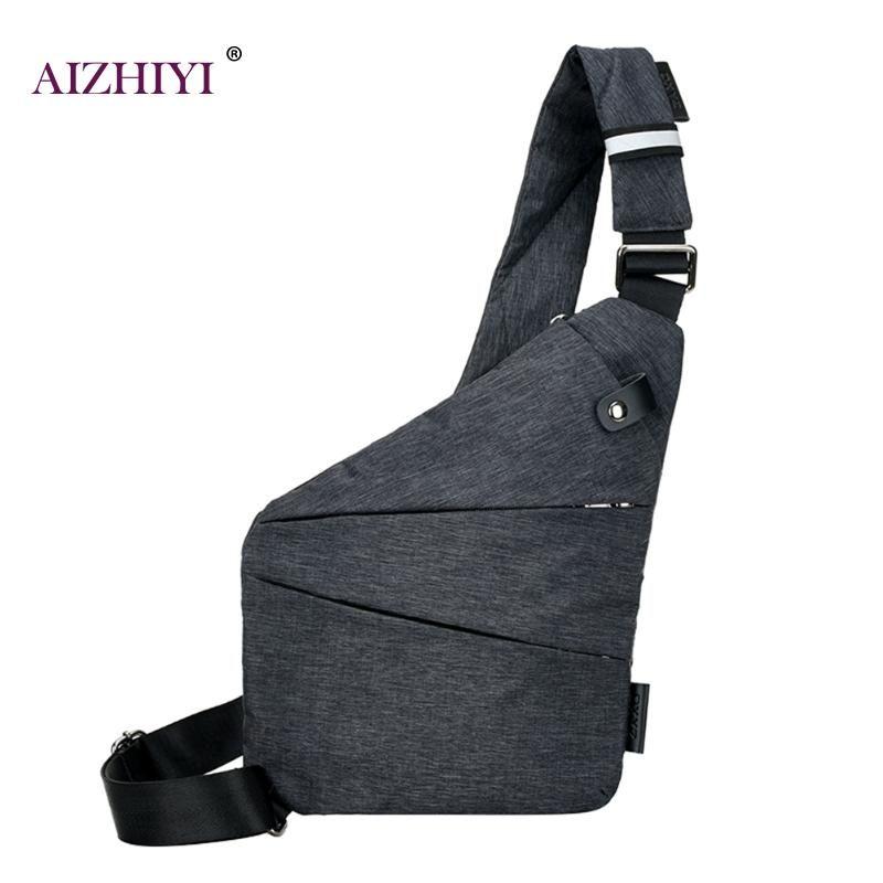 Canvas Chest Bag Men Single Shoulder Bags Chest Pack Anti Theft Messenger Bag