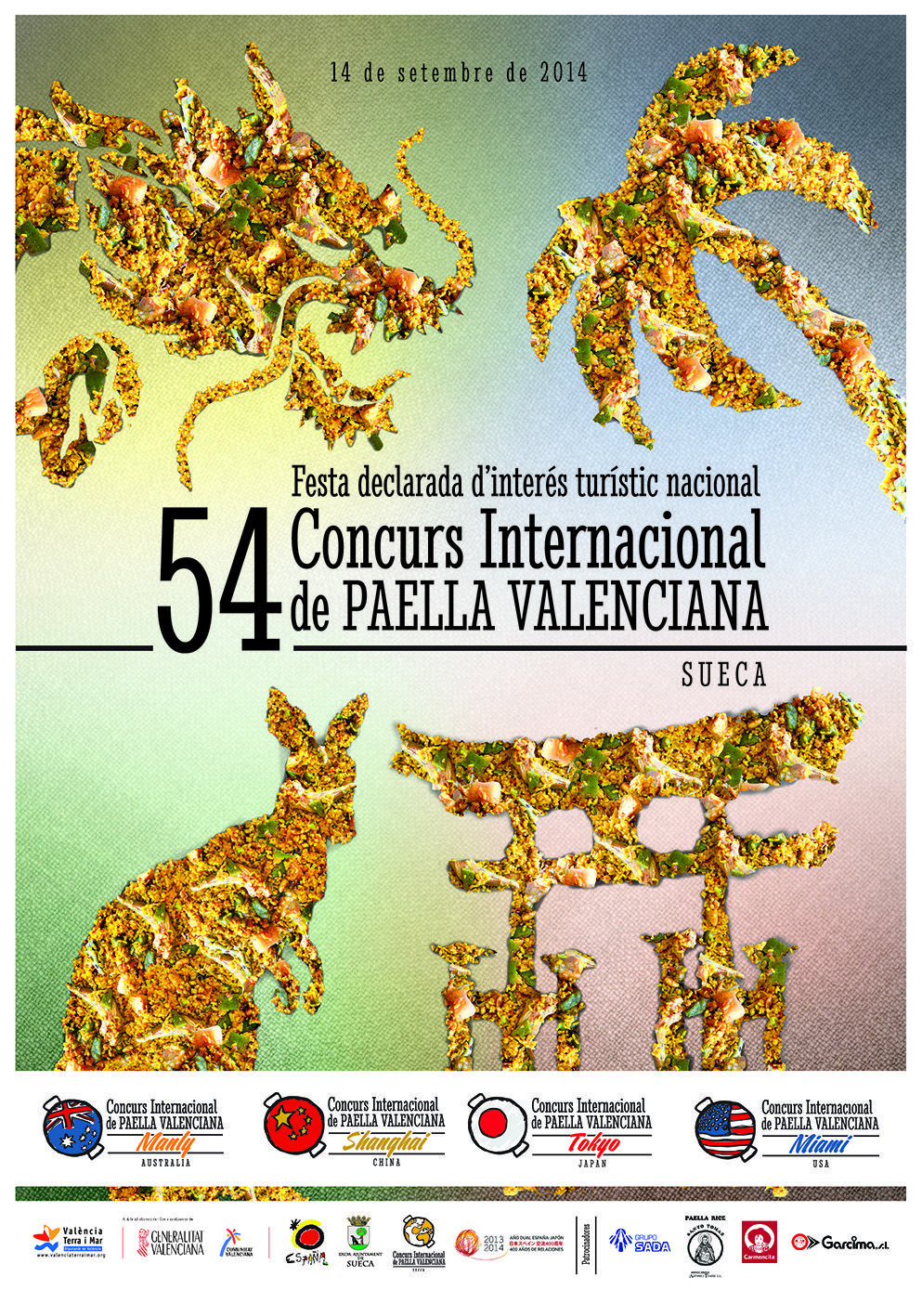 Cartel oficial del 54 Concurs Internacional de Paella Valenciana de Sueca 2014