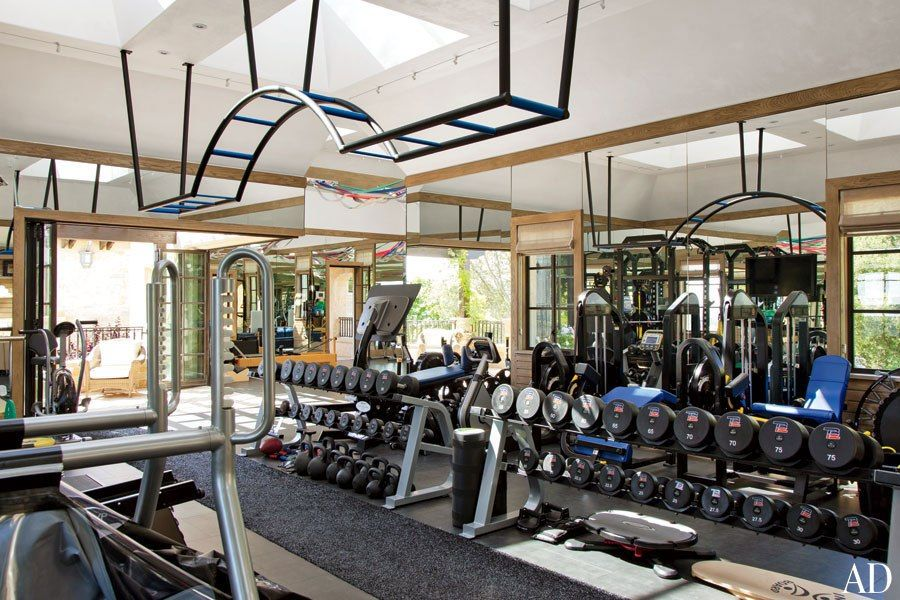 ordinary custom home gyms #3: Gisele Bündchen and Tom Bradyu0027s House in Los Angeles
