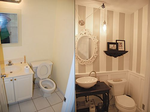Ristrutturare Bagno Casa In Affitto : Our new half bathroom before and after houzz random pinterest