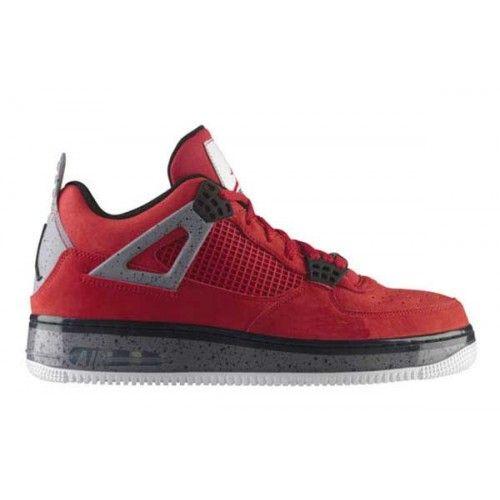 62eefd0dbaa Nike Air Jordan 4 IV Air Force One Fusion AJF 4 Varsity Red Cement Grey
