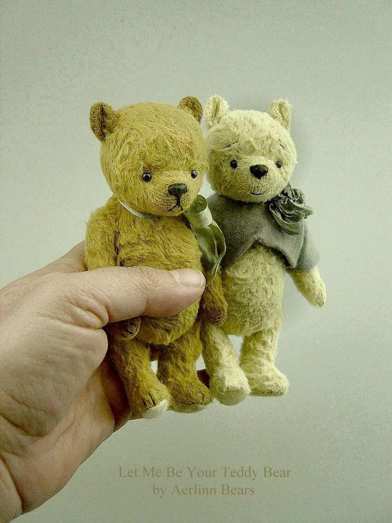 Let Me Be your Teddy Bear is a a sweet old thing made in Viscose and needs to be hand sewn. Approx 14 cm , 5 1/2 approx tall. He has been