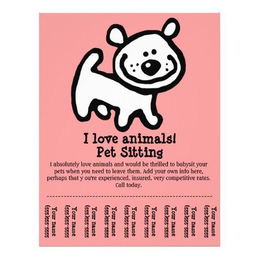 Pet Sitting, Dog Grooming, Walking, Training flyer | Pet sitting ...