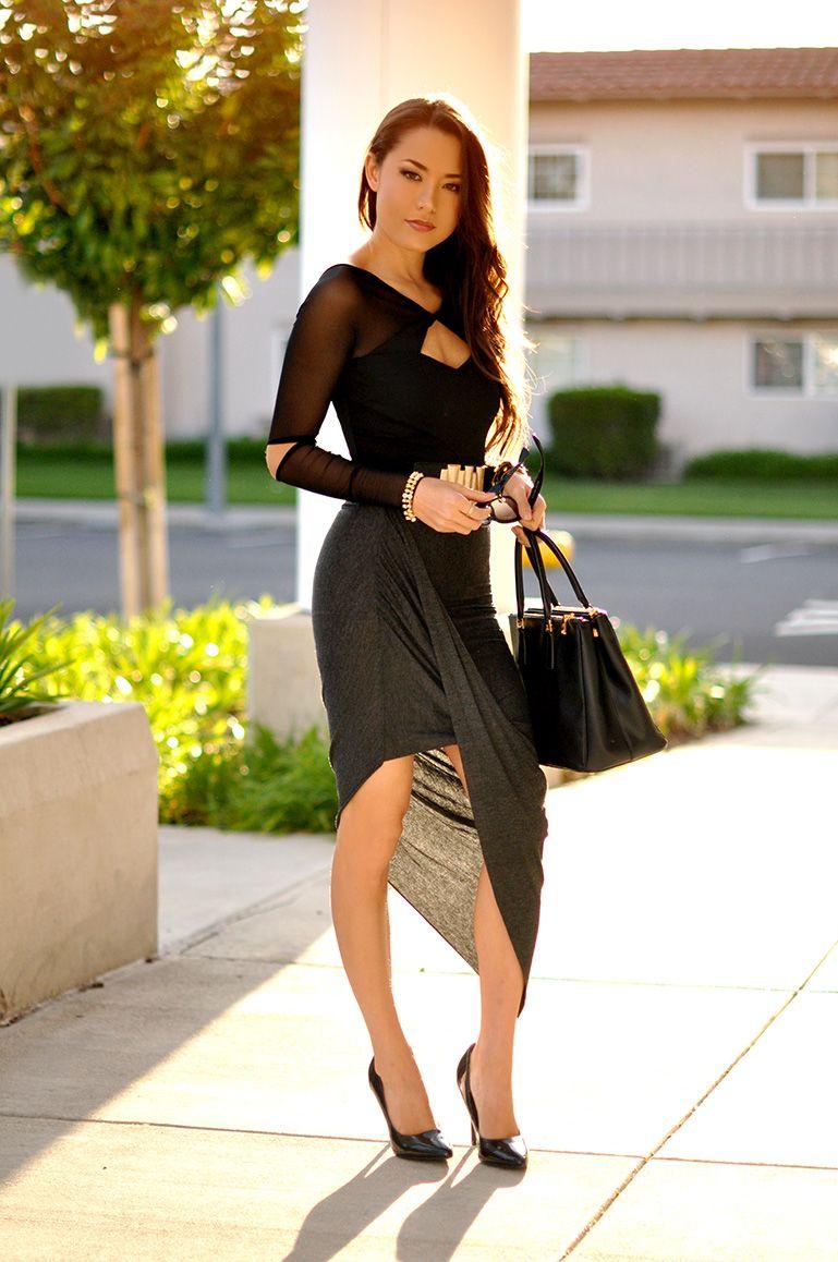 Hapa time bebe bodysuit dailylook skirt and spike bracelet