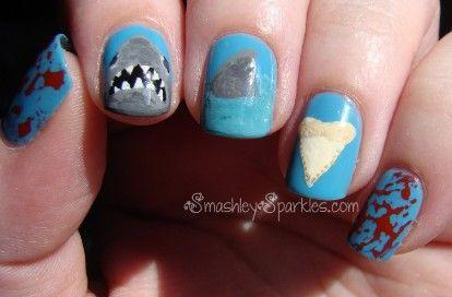 55 Killer Shark Nail Designs Summer Nail Ideas Pinterest Shark
