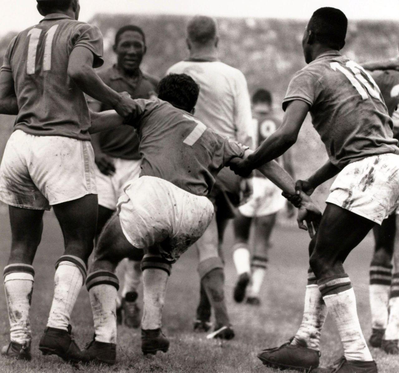 Garrincha Djalma Santos Mario Zagallo and Pele Brazil Sweden