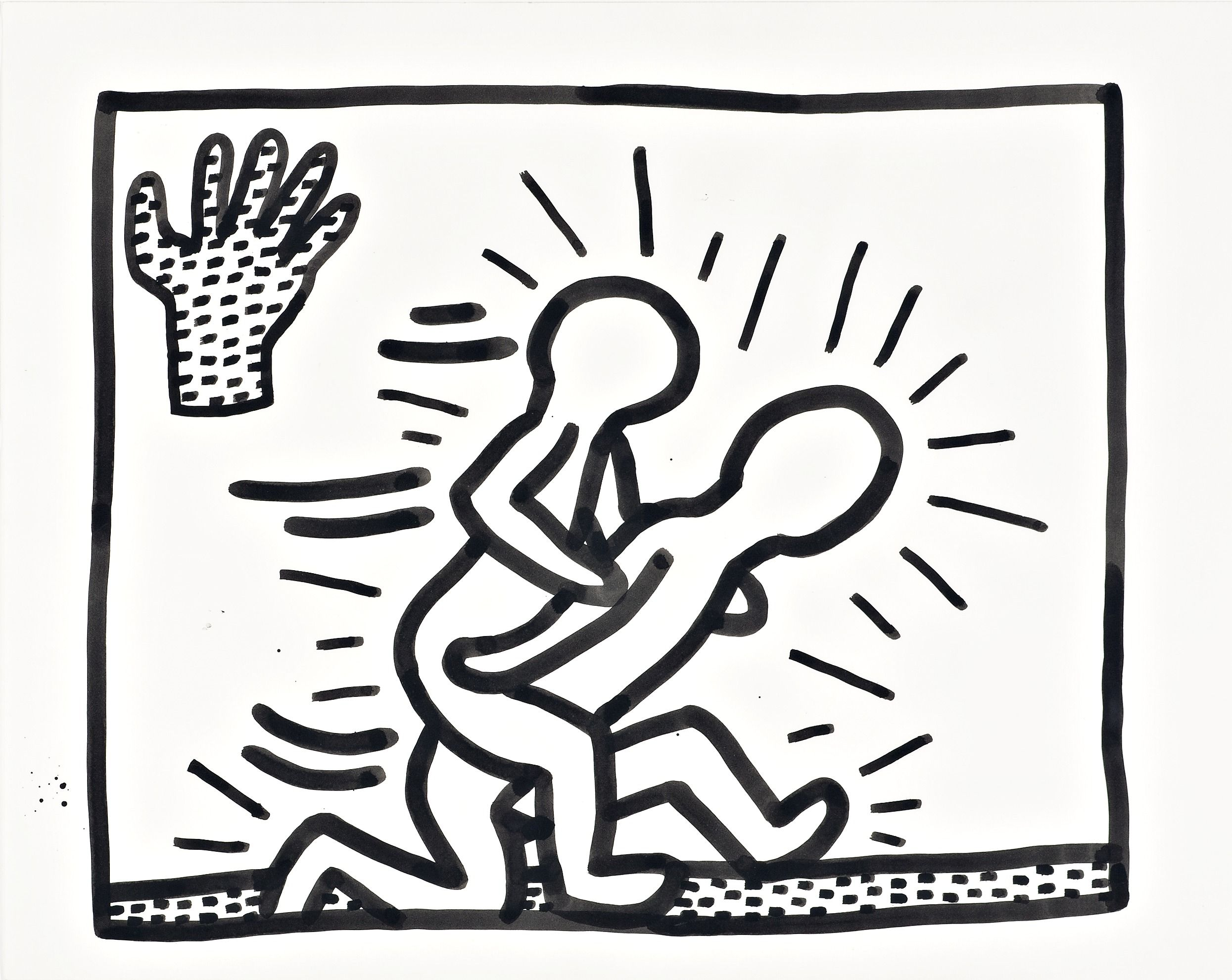 Keith Haring Reading Untitled