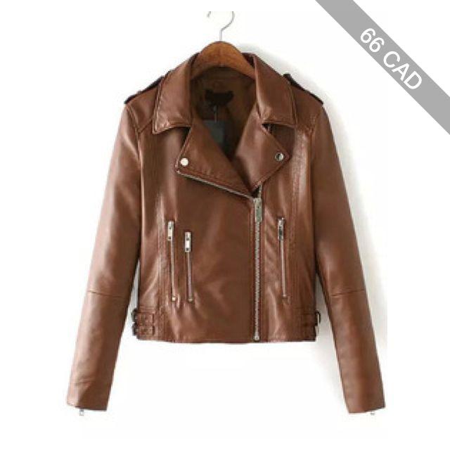 Lapel With Zipper Khaki Jacket