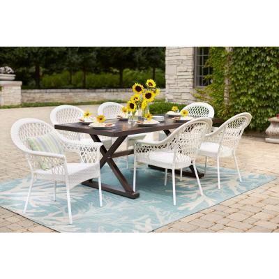 Hampton Bay Woodbury Rectangular Patio Dining Table-DY9127-TT - The Home Depot