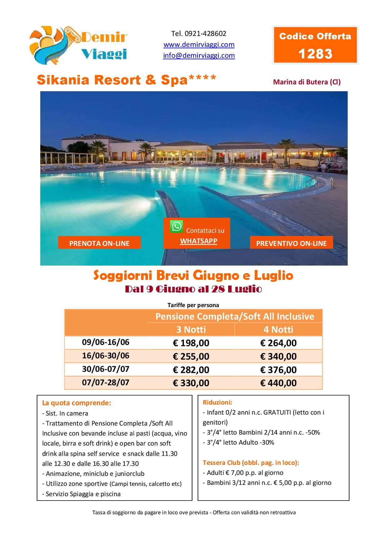 Sikania Resort**** - Marina di Butera (Cl) Soggiorni Brevi #Giugno e ...