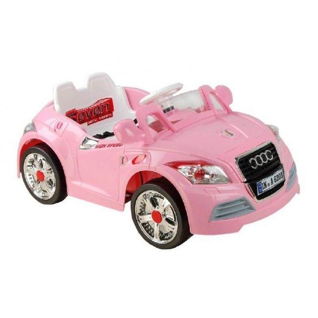 Ride On V Electric Audi TT Roadster Pink Car With Parental Remote - Audi 6v car