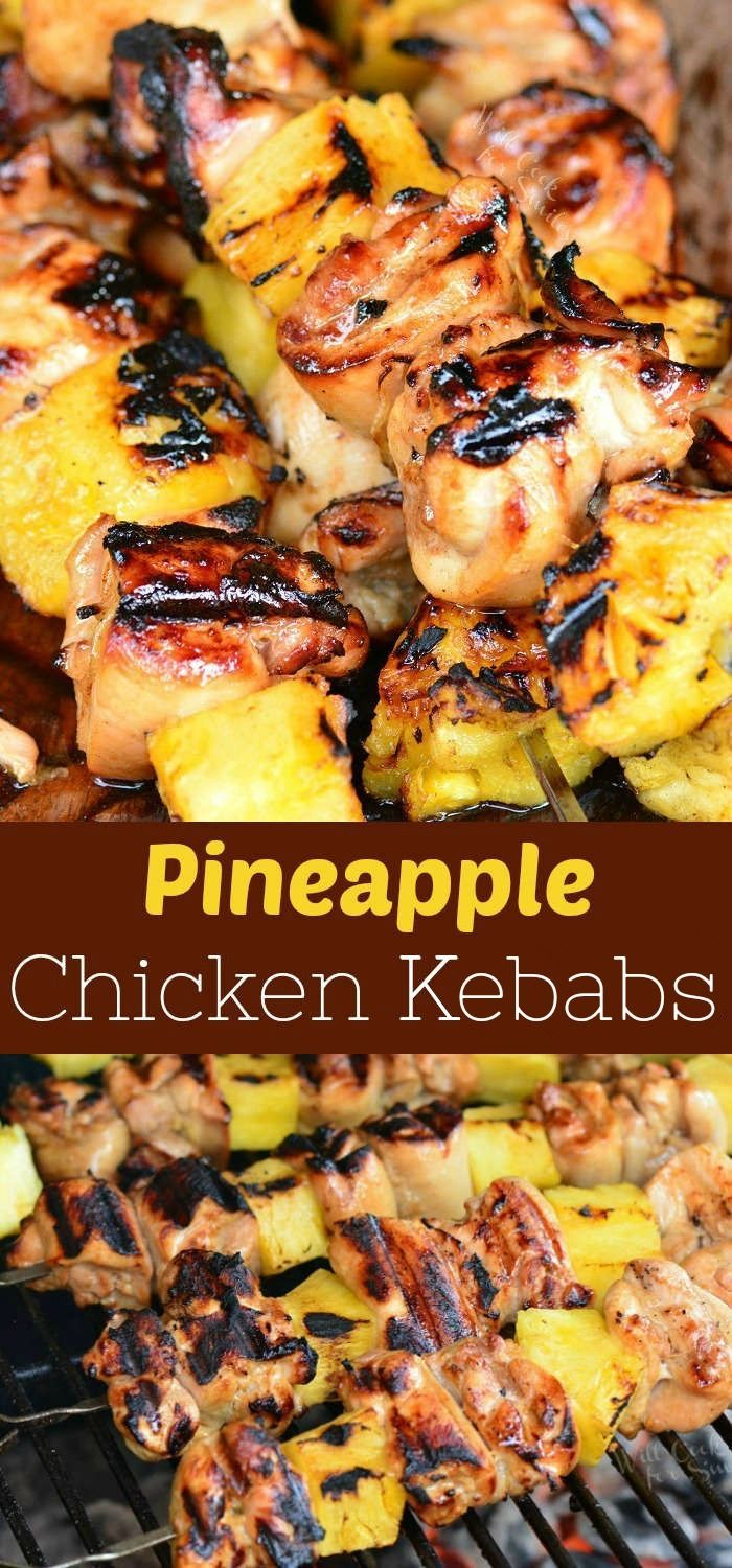Pineapple Grilled Chicken Kebabs