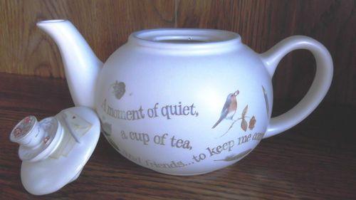 Marjolein Bastin Hallmark Teapot Nature's Sketchbook Collection | eBay