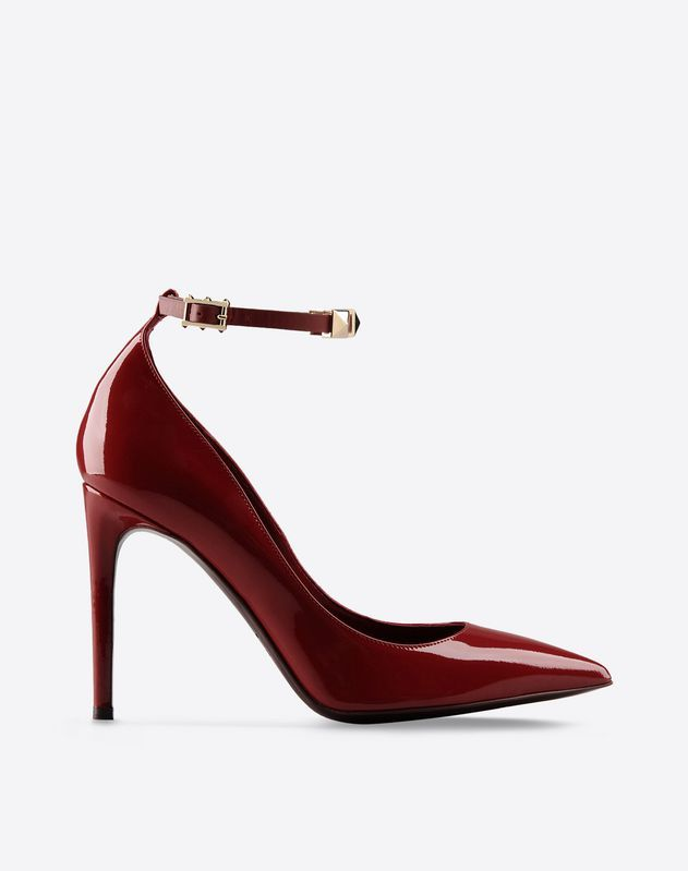 Valentino Garavani Rouge Absolute Signature patent leather pump. The ankle  strap can be customized replacing or adding letters and symbols to the  iconic ... bc4827b5460