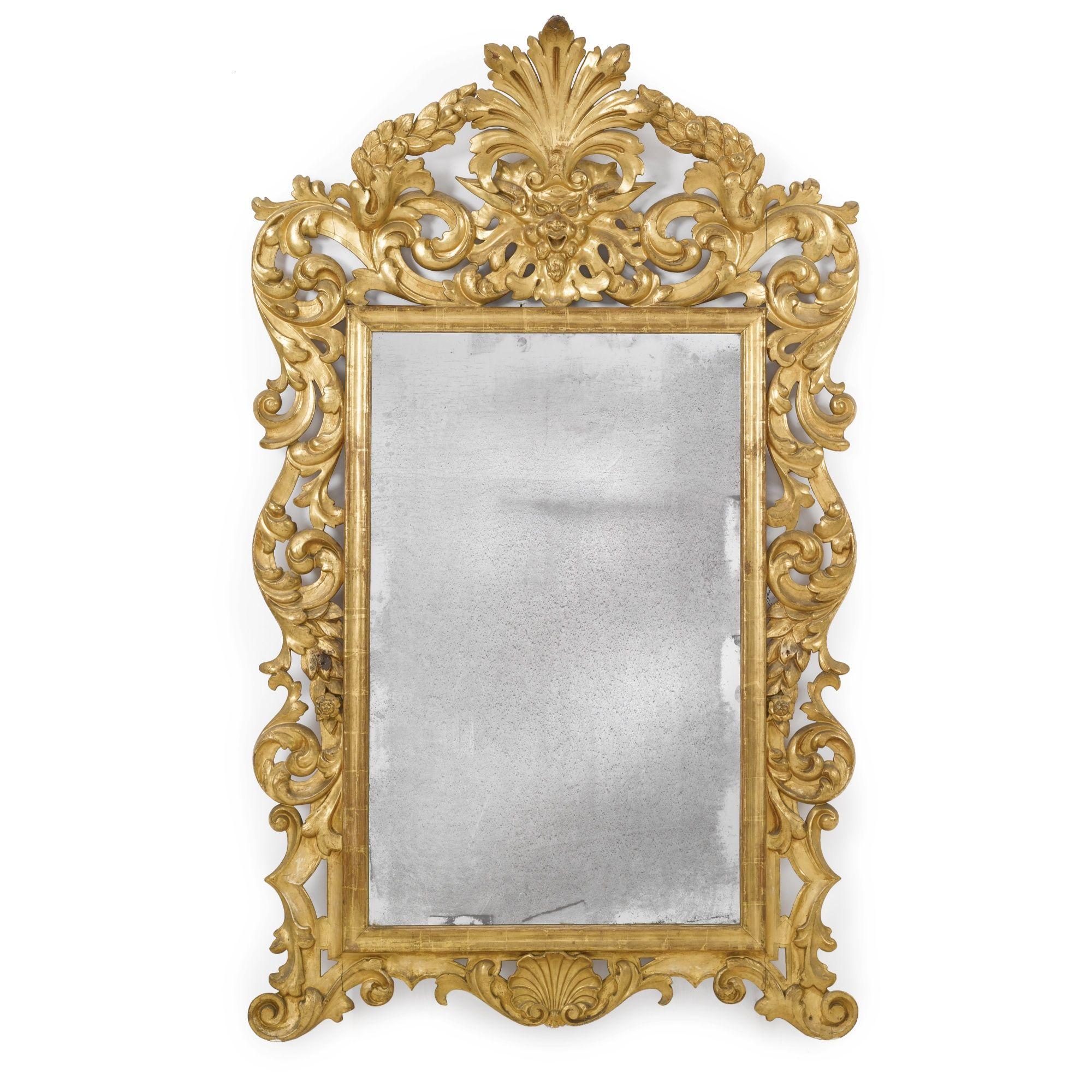 An Italian Baroque carved giltwood mirror, circa 1720. | Mirrors ...