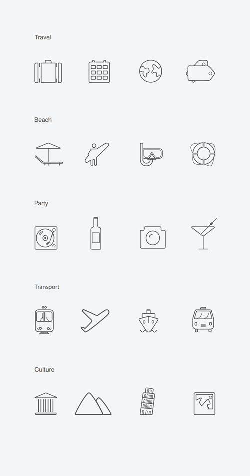 20 Free Vector Icons flatdesign uikits freeicons